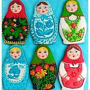 Сувениры и подарки handmade. Livemaster - original item Gingerbread Matryoshka. russian souvenir.. Handmade.