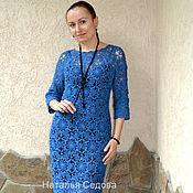 """Одежда ручной работы. Ярмарка Мастеров - ручная работа Платье """"Сияние синевы"""". Handmade."""