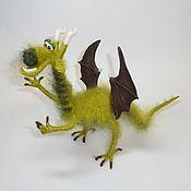Куклы и игрушки ручной работы. Ярмарка Мастеров - ручная работа Дракон зеленый.. Handmade.