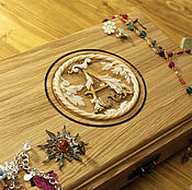 Для дома и интерьера handmade. Livemaster - original item The box is made of oak inscribed with the monogram