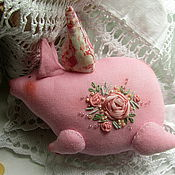 Куклы и игрушки ручной работы. Ярмарка Мастеров - ручная работа Шебби декор.Свинка тильда. Handmade.