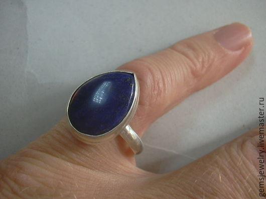 Кольца ручной работы. Ярмарка Мастеров - ручная работа. Купить Элегантное кольцо ЛАЗУРИТ,серебрение.. Handmade. Тёмно-синий