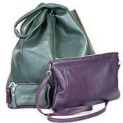 Сумка - Мешок - большого размера с двумя карманами, сумочка и кошелек