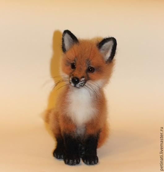 """Игрушки животные, ручной работы. Ярмарка Мастеров - ручная работа. Купить войлочная лисичка""""Юся"""". Handmade. Рыжий, игрушка из войлока"""