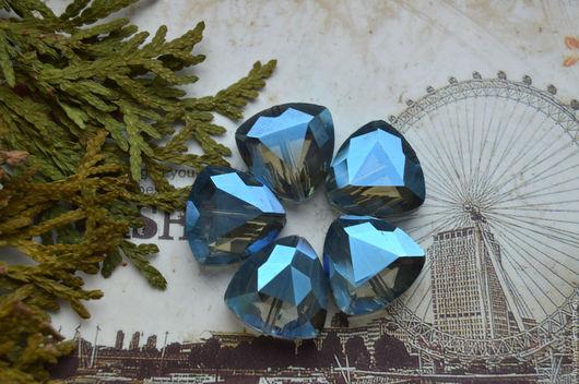 """Для украшений ручной работы. Ярмарка Мастеров - ручная работа. Купить Бусины хрустальные """"Gray"""". Handmade. Серый, стекло, кристаллы"""