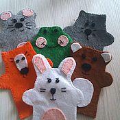 Куклы и игрушки ручной работы. Ярмарка Мастеров - ручная работа Ростомер теремок+ пальчиковые персонажи. Handmade.