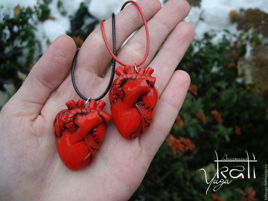 Кулоны, подвески ручной работы. Ярмарка Мастеров - ручная работа. Купить Кулон анатомическое Сердце. Handmade. Полимерная глина, кулон