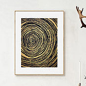 Картины и панно handmade. Livemaster - original item Picture schedule minimalism Tree. Cross-section of a tree tree rings.. Handmade.