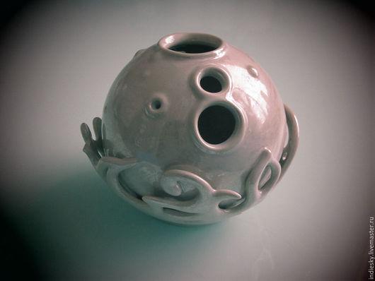 Вазы ручной работы. Ярмарка Мастеров - ручная работа. Купить керамическая ваза. Handmade. Бежевый, необычный подарок, Красивый дом