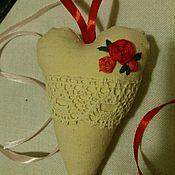 Куклы и игрушки ручной работы. Ярмарка Мастеров - ручная работа Текстильное сердечко в стиле Тильда. Handmade.
