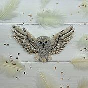 """Украшения ручной работы. Ярмарка Мастеров - ручная работа Колье """"Полярная сова"""". Handmade."""