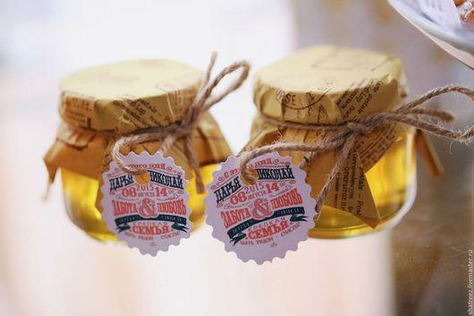 Свадебные аксессуары ручной работы. Ярмарка Мастеров - ручная работа. Купить Свадебные ярлычки в стиле леттеринг на подарки для гостей. Handmade.