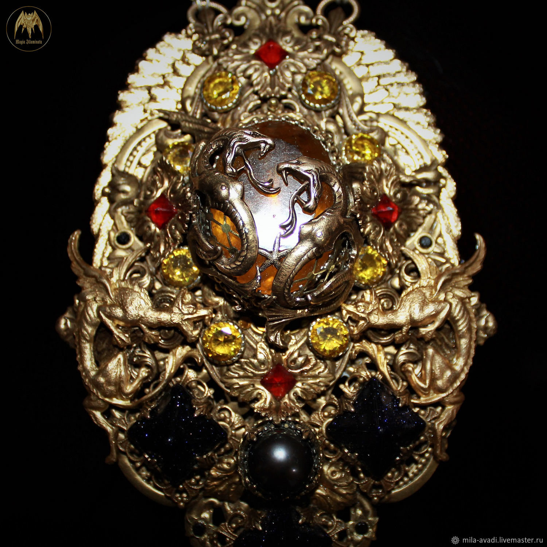 Amulet certified fluorite pearl aventurine agate Charon handmade, Pendants, Odessa,  Фото №1