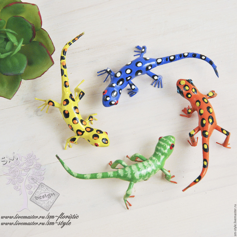 Ящерица цветная, Элементы декора, Москва,  Фото №1