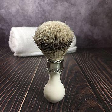 Помазок для бритья в винтажном стиле, барсук silvertip badger