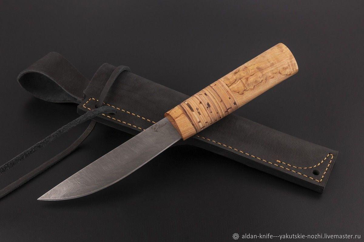 Оружие ручной работы. Ярмарка Мастеров - ручная работа. Купить Нож Якутский средний №12 (дамасская сталь). Handmade. Дамаск