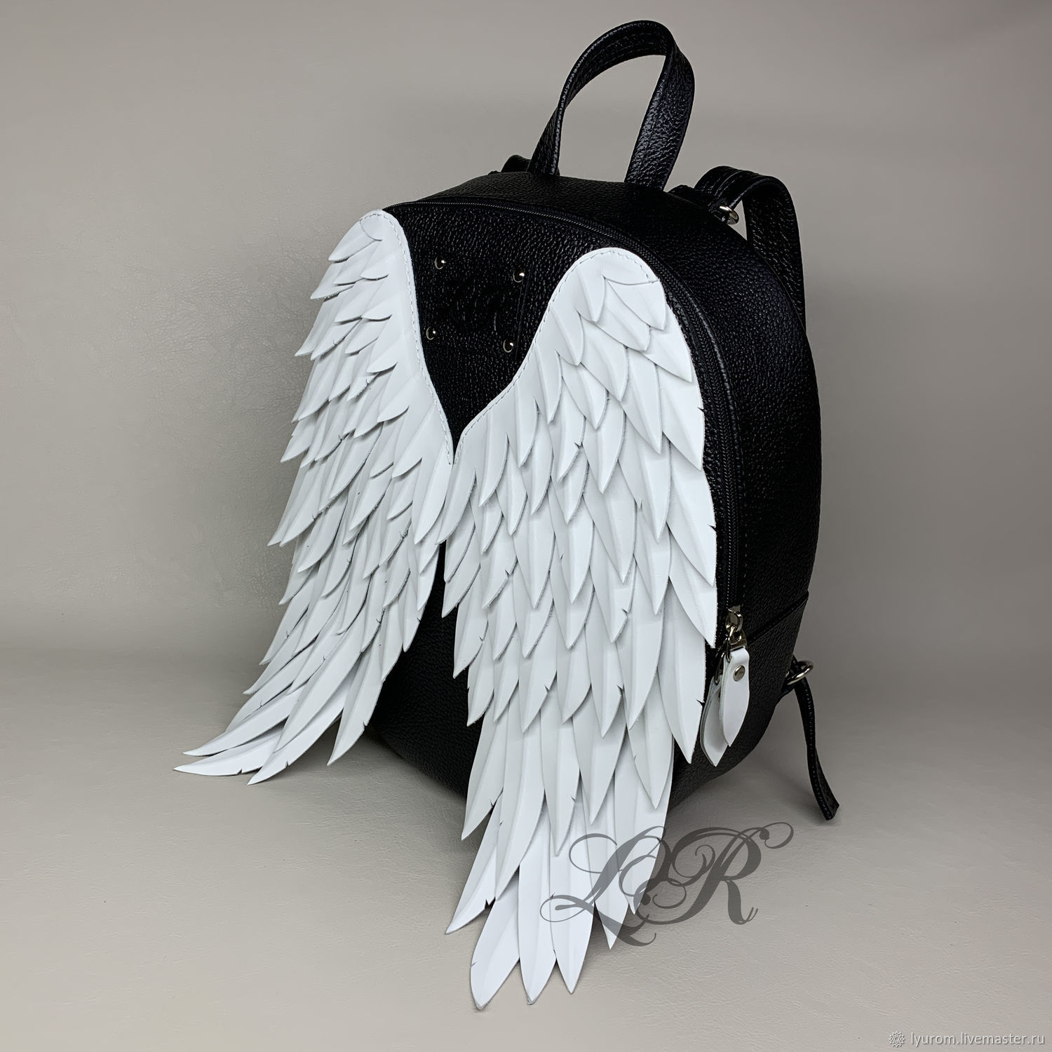 Women's leather backpack 'angel' with 3D wings, Backpacks, Moscow,  Фото №1