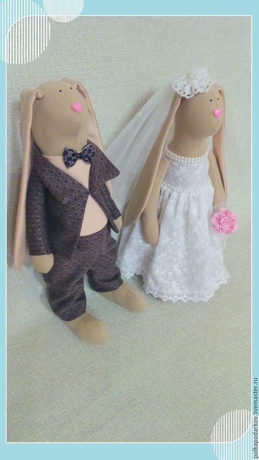 Куклы Тильды ручной работы. Ярмарка Мастеров - ручная работа. Купить Свадебные зайки Тильда. Handmade. Зайцы тильда