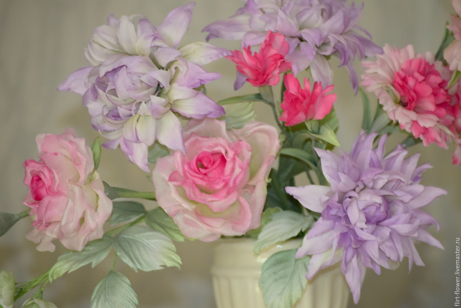A bouquet of silk spring pink shop online on livemaster with shop flower flowers handmade a bouquet of silk spring pink silk accent mightylinksfo