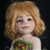 Куклы и игрушки ручной работы. Ярмарка Мастеров - ручная работа Авторская войлочная кукла Луговая Маша. Handmade.