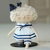 Куклы и игрушки ручной работы. Ярмарка Мастеров - ручная работа Юнга Кукла текстильная Детский сад на море. Handmade.