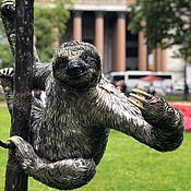 Для дома и интерьера handmade. Livemaster - original item Metal sculpture. Sloth. hanger.. Handmade.