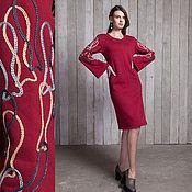 Одежда ручной работы. Ярмарка Мастеров - ручная работа Платье теплое/ Платье зимнее/Платье повседневное/ Платье красное миди. Handmade.