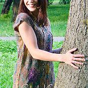 """Одежда ручной работы. Ярмарка Мастеров - ручная работа Туника валяная """"Трава и деревья"""". Handmade."""