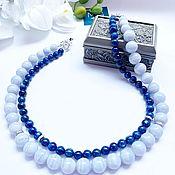 Украшения handmade. Livemaster - original item Necklace made of natural kyanites and sapphirine. Handmade.