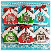 Сувениры и подарки handmade. Livemaster - original item Christmas Gingerbread on a Christmas tree Houses. Handmade.
