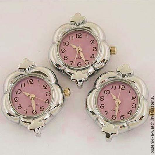 Для украшений ручной работы. Ярмарка Мастеров - ручная работа. Купить Основа для часов Клевер розовый (1шт). Handmade. Часы
