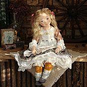 Куклы и пупсы ручной работы. Ярмарка Мастеров - ручная работа Авторская интерьерная коллекционная кукла Осеннее солнышко. Handmade.
