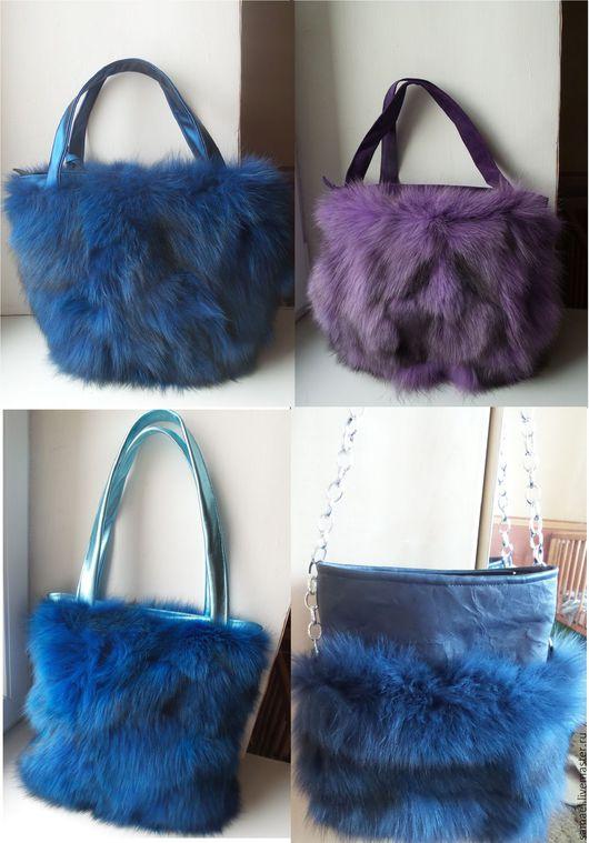 Женские сумки ручной работы. Ярмарка Мастеров - ручная работа. Купить сумки из меха песца. Handmade. Комбинированный, подарки для женщин