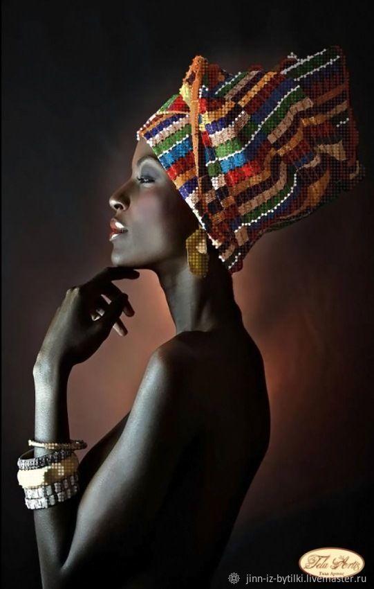 """Схема для вышивания бисером """"Африканка"""", Схемы для вышивки, Москва,  Фото №1"""