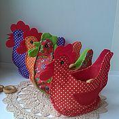 Для дома и интерьера handmade. Livemaster - original item basket the hen textile. Handmade.