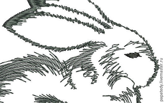 Иллюстрации ручной работы. Ярмарка Мастеров - ручная работа. Купить кролик дизайн машинной вышивки. Handmade. Подарок для ребенка