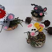 Year of the Rat handmade. Livemaster - original item Mouse on a stump.. Handmade.