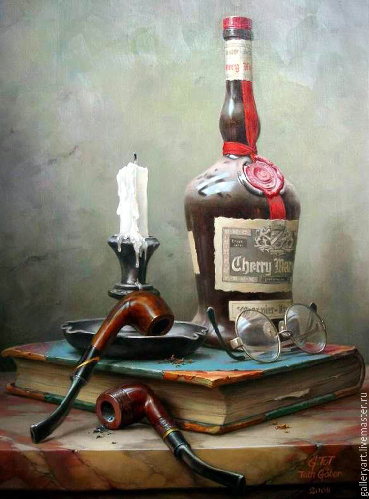 The painting 'still life with a pipe', Pictures, St. Petersburg,  Фото №1