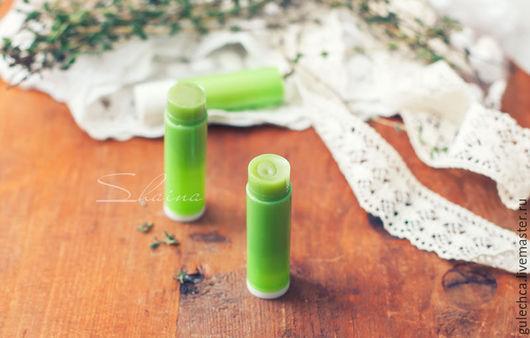 Бальзам для губ ручной работы. Ярмарка Мастеров - ручная работа. Купить ЧАЙНОЕ ДЕРЕВО бальзам для губ. Handmade. Зеленый
