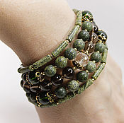 Украшения handmade. Livemaster - original item Bracelet Asparagus Natural stones gold Plated. Handmade.