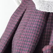 Теплая юбка в мелкую клетку в стиле бохо