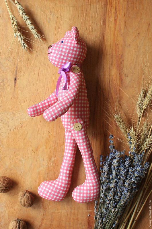 Куклы Тильды ручной работы. Ярмарка Мастеров - ручная работа. Купить Мишка тильда. Handmade. Розовый, холофайбер