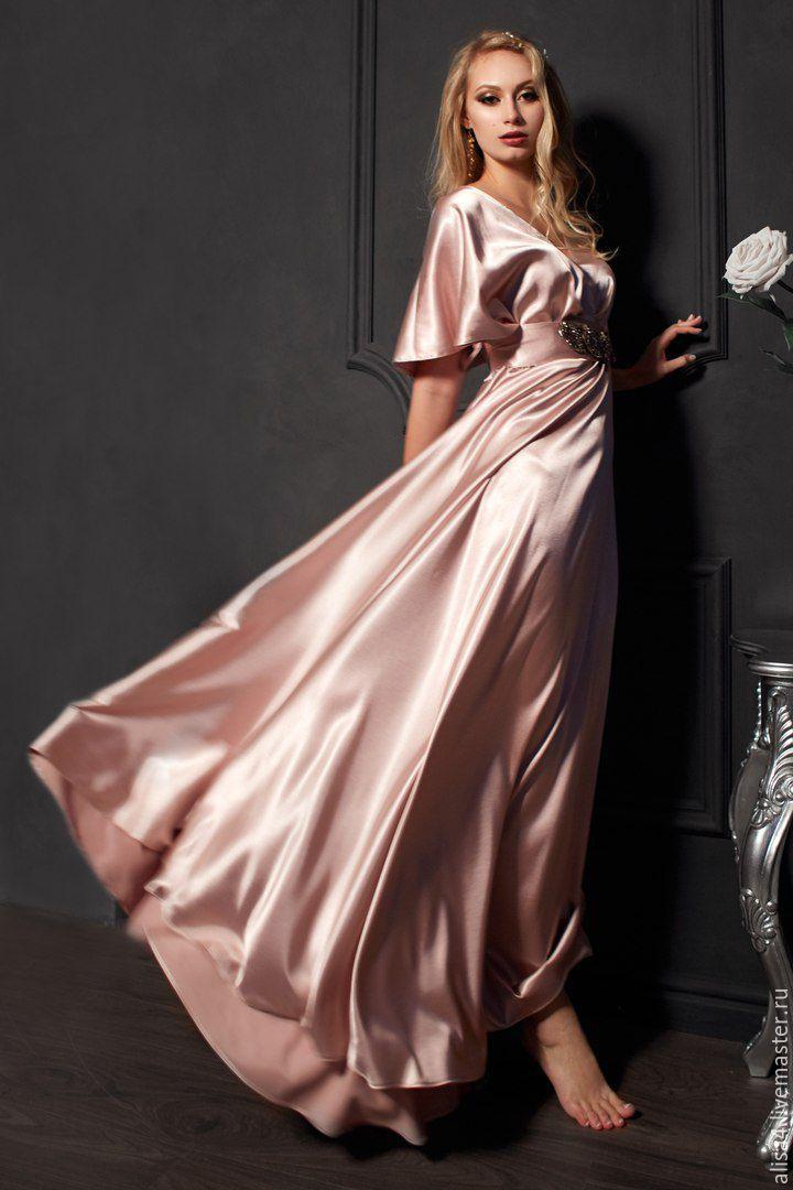 шелковые платья в пол фото разнообразны