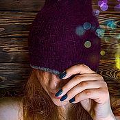 Аксессуары ручной работы. Ярмарка Мастеров - ручная работа Двухсторонняя удлиненная шапочка бини. Handmade.