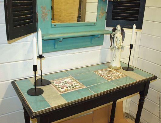 """Мебель ручной работы. Ярмарка Мастеров - ручная работа. Купить Консоль и зеркало со ставнями  """"Цветок шиповника"""". Handmade. консоль"""