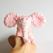 Куклы и игрушки ручной работы. Ярмарка Мастеров - ручная работа Слоник розовый. Handmade.