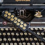 Украшения handmade. Livemaster - original item Set typewriter (bracelet and pendant). Handmade.