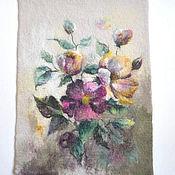Картины и панно ручной работы. Ярмарка Мастеров - ручная работа Дикая роза. Handmade.