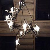 Для дома и интерьера ручной работы. Ярмарка Мастеров - ручная работа Витая люстра из рога марала. Handmade.
