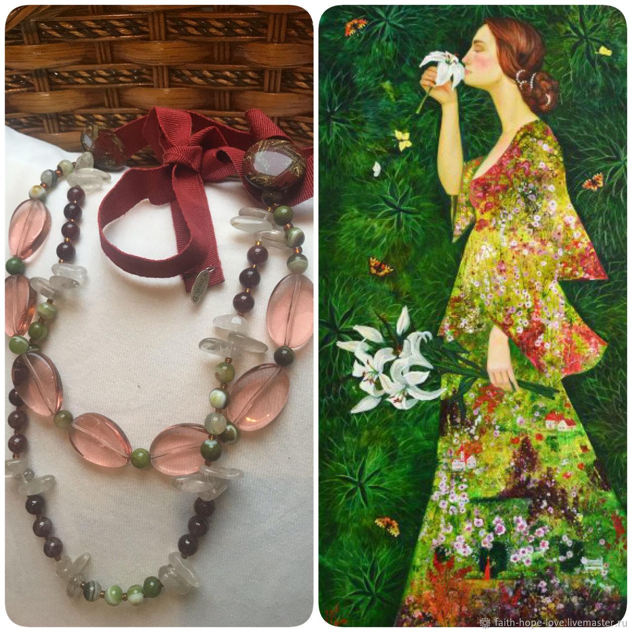 Emma'dimetros Necklace-Sautoir Wood Nymph, Vintage necklace, Vladivostok,  Фото №1